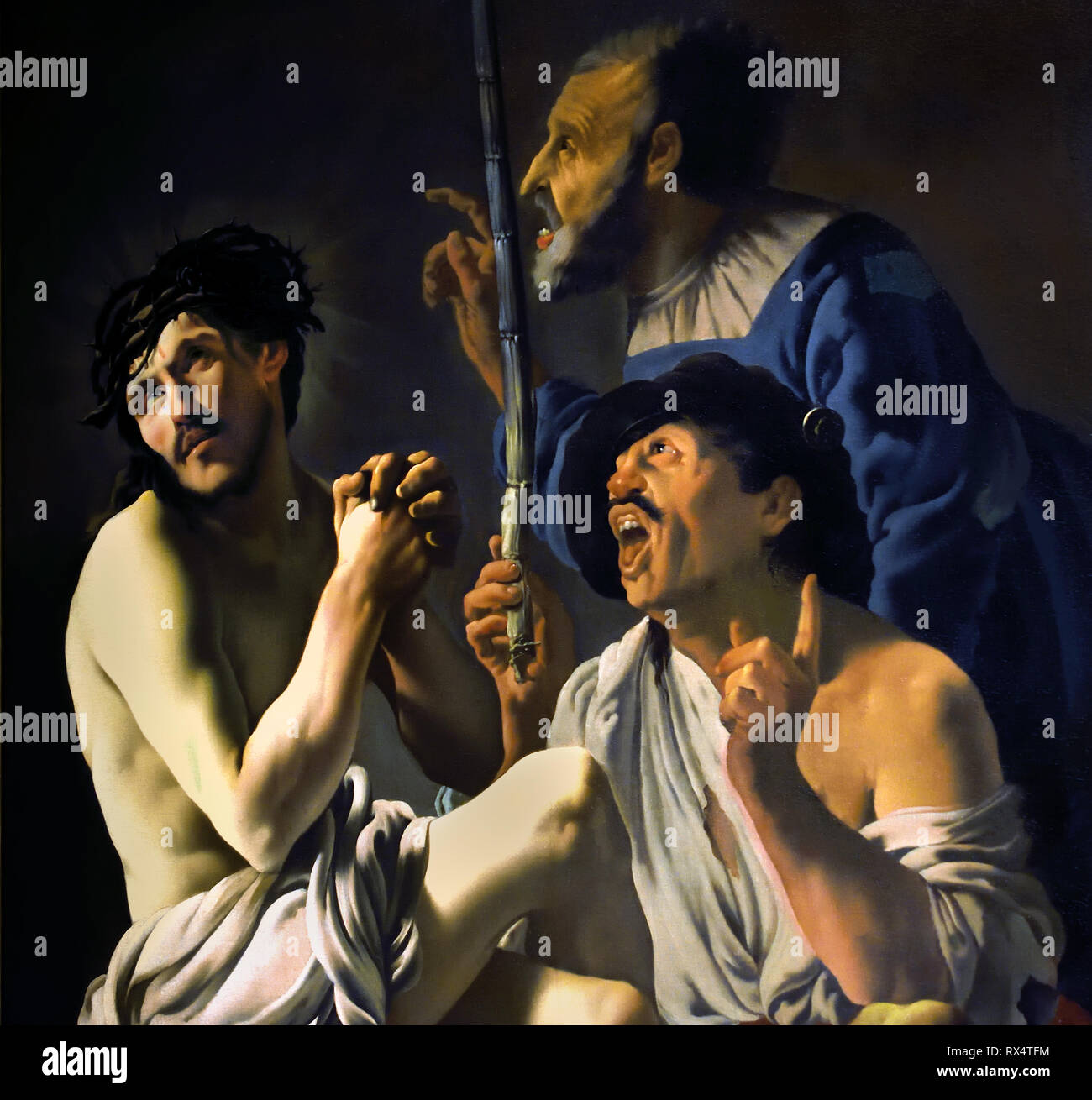 The Mocking of Christ 1625 Hendrick ter Brugghen 1588 - 1629 Dutch The Netherlands( Caravaggists, Style of Caravaggio) - Stock Image