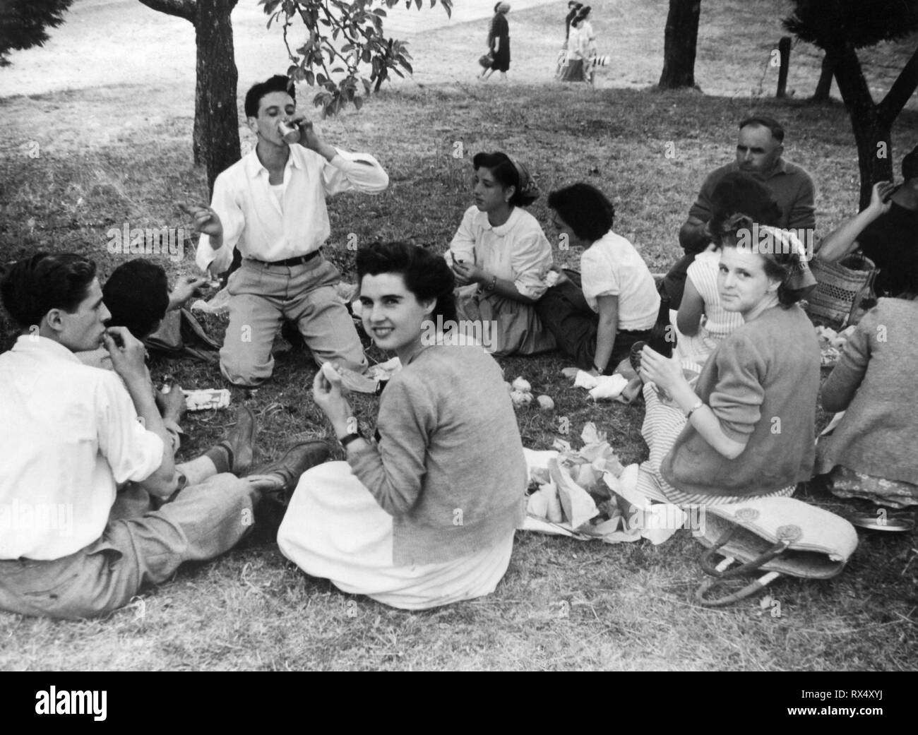 annual festival, macchia antonini, tuscany, italy 1953 - Stock Image