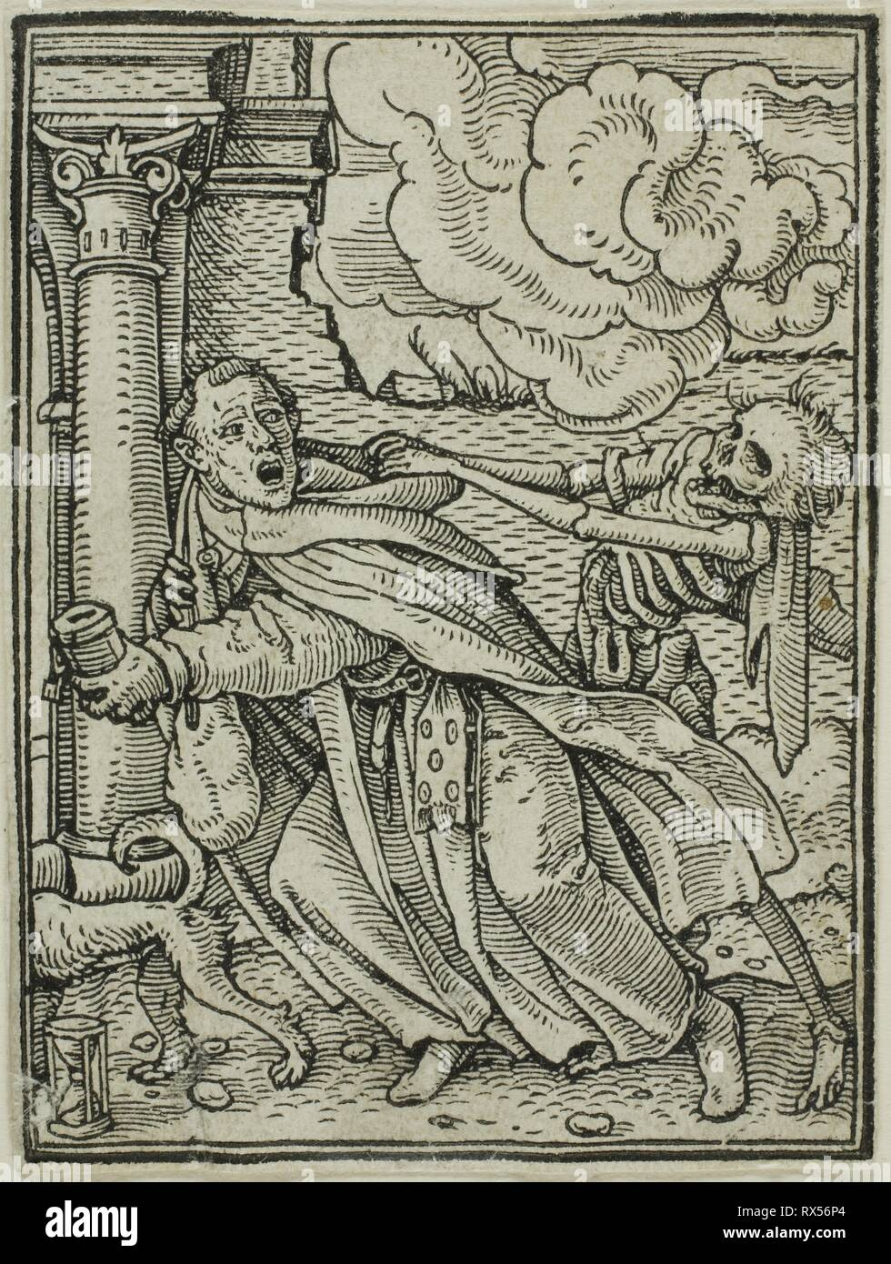 The Monk. Hans Holbein, the younger; German, 1497-1543. Date: 1517-1543. Dimensions: 66 x 50 mm. Woodcut on paper. Origin: Germany. Museum: The Chicago Art Institute. - Stock Image
