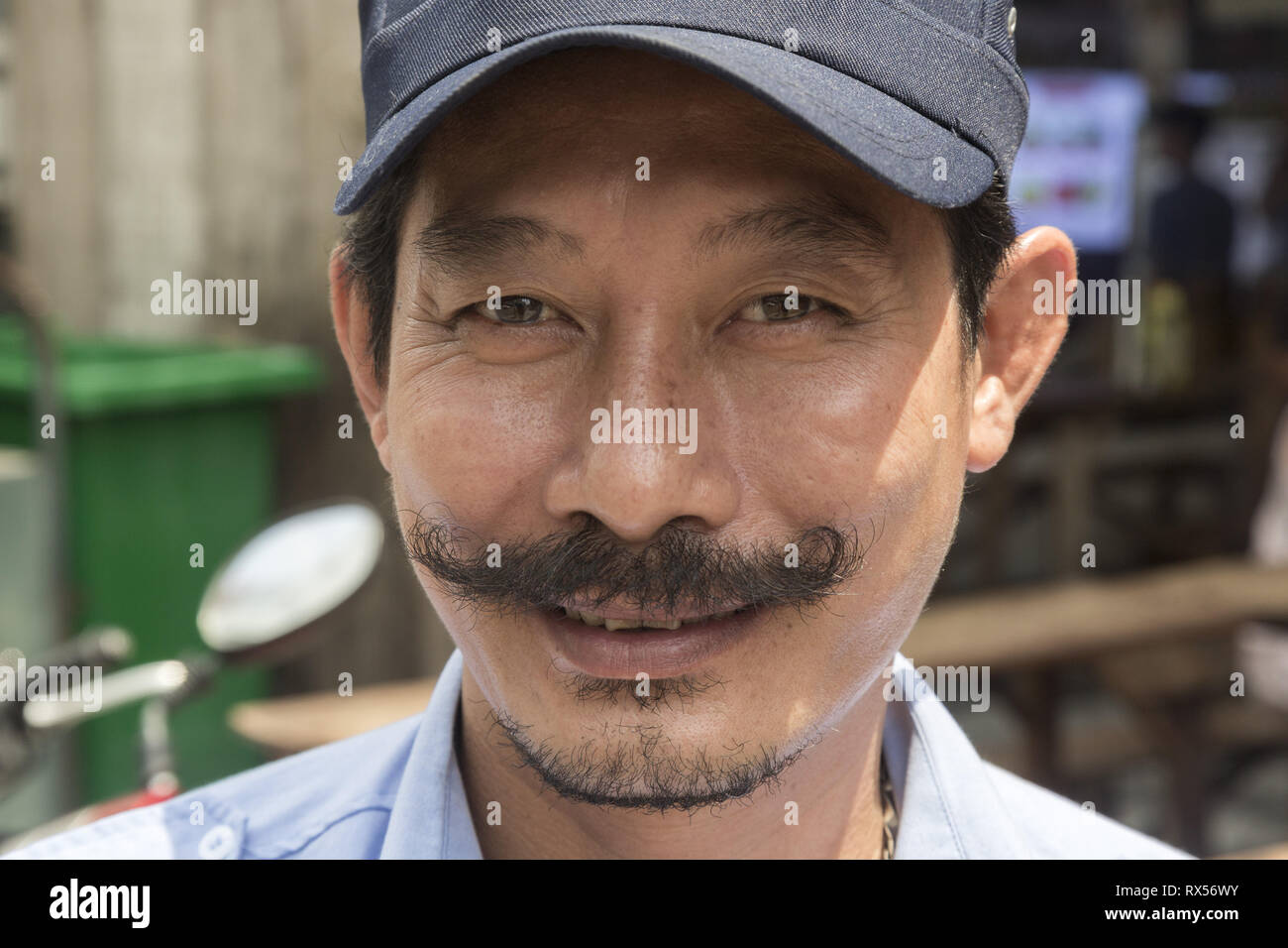 Portrait of the Vietnamese man - Stock Image