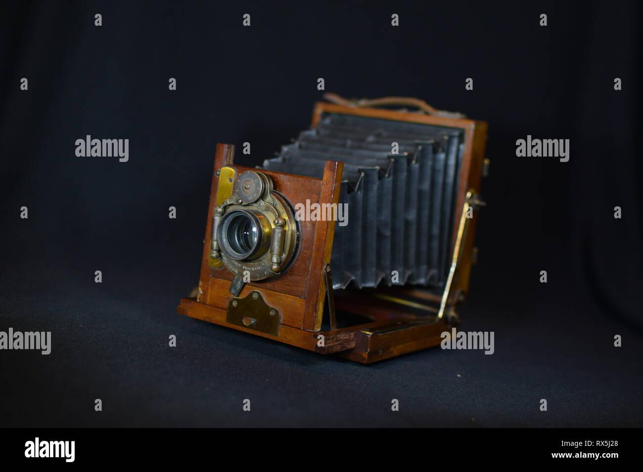 Vintage folding camera - Stock Image
