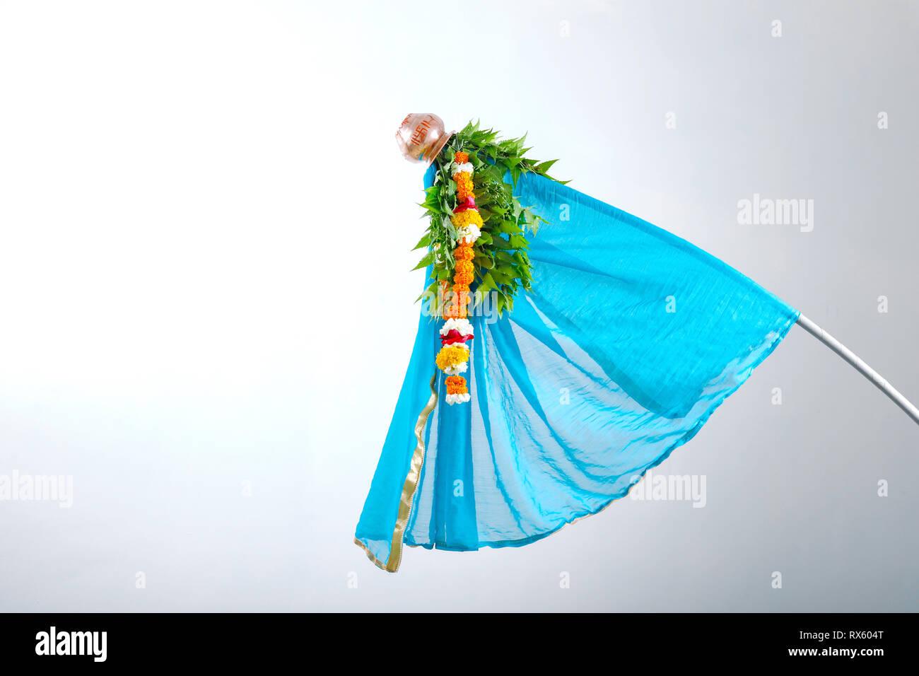 Gudi Padwa Marathi New Year Stock Photo