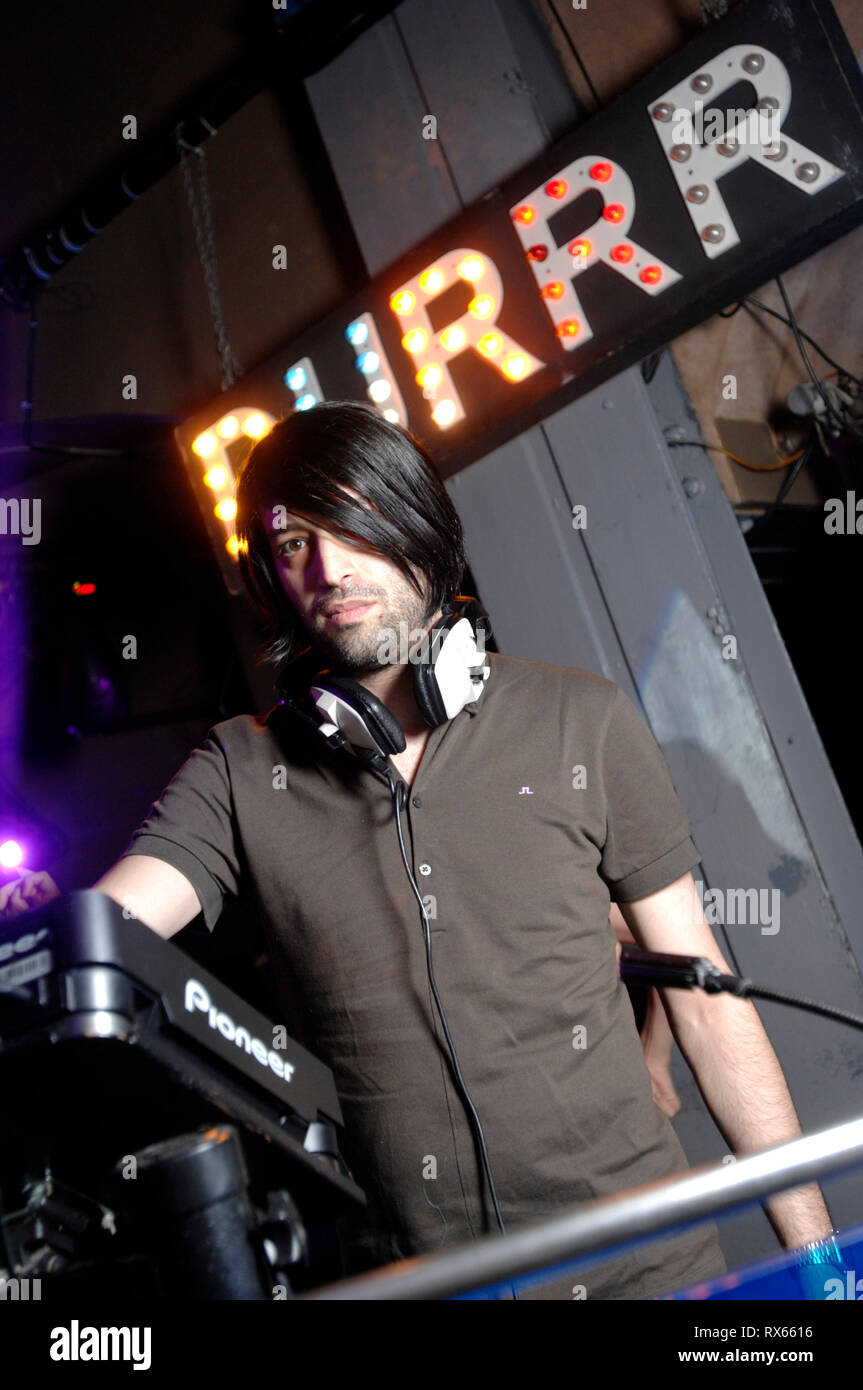Durrr night @  The End , West Central St Wc1 London and  Erol Alkan  DJing.  23 June 2008 - Stock Image