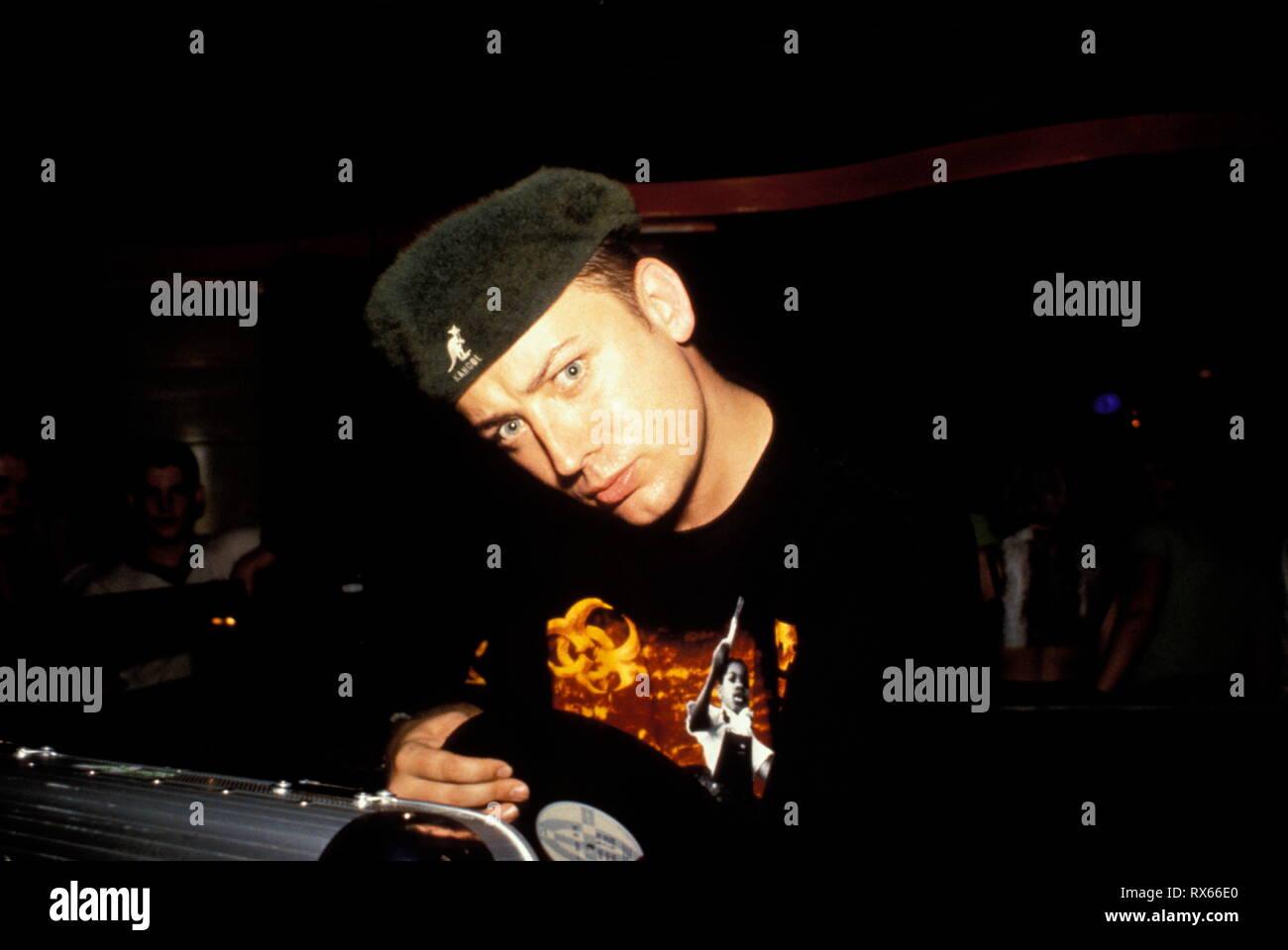 Boy George DJing at The Wheel, B.G. Birmingham, U.K, 1996. - Stock Image