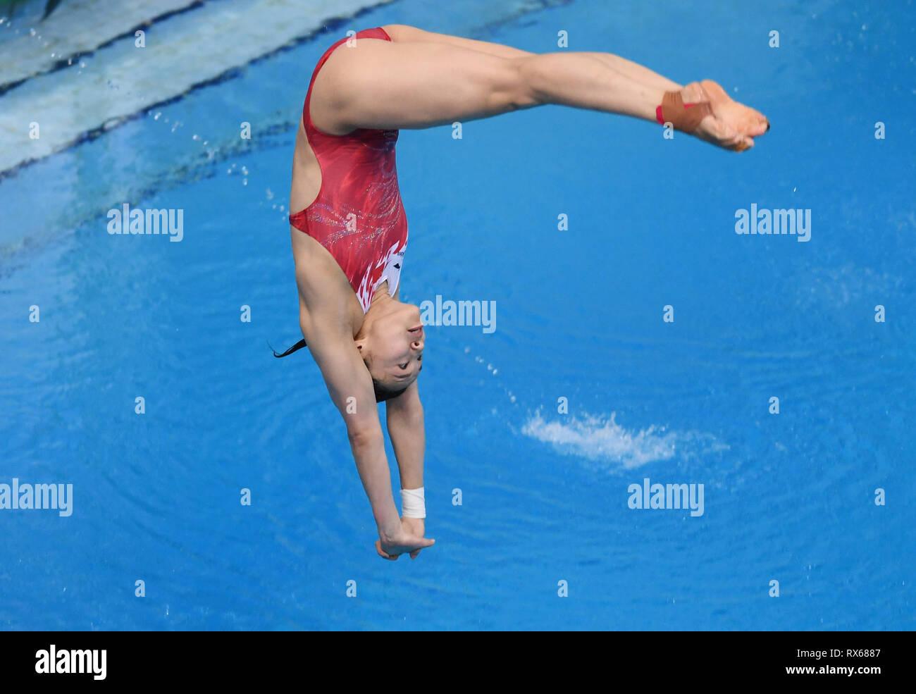 Beijing, China  8th Mar, 2019  China's Wang Han competes