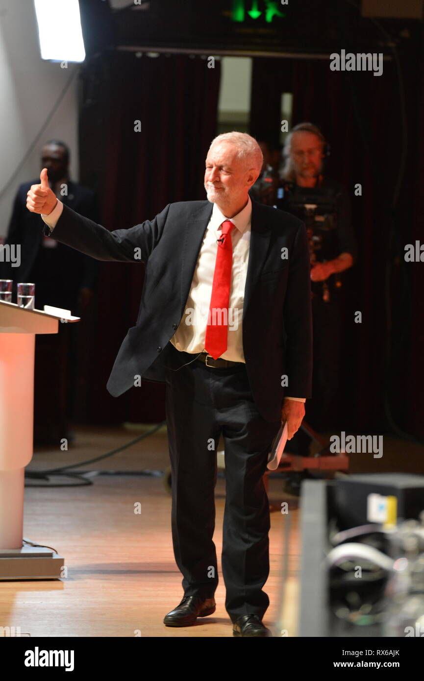 Dundee, UK. 8 March 2019. Labour Leader - Jeremy Corbyn addresses conference with a keynote speech. Credit: Colin Fisher/Alamy Live News - Stock Image