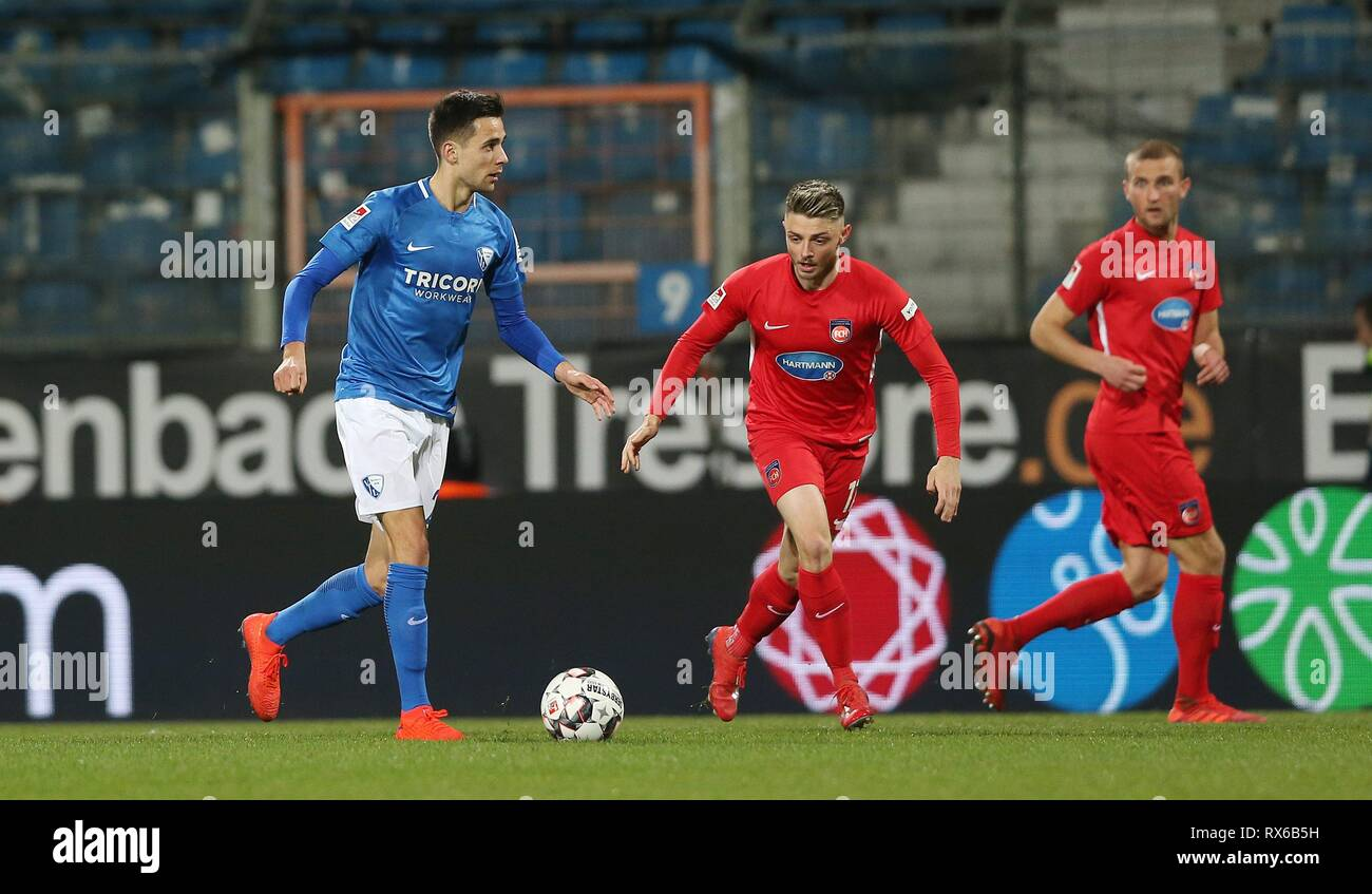 firo: 08.03.2019, football, 2.Bundesliga, season 2018/2019, VfL Bochum - 1.FC Heidenheim Milos PANTOVIC, Bochum links | usage worldwide - Stock Image