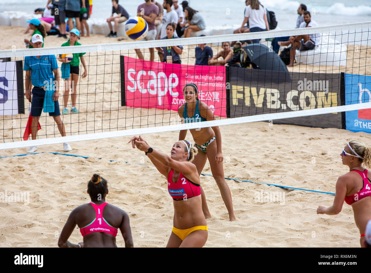 Sydney Australia 9th Mar 2019 Quarter Finals Day At Volleyfest 2019 A Fivb Beach Volleyball World