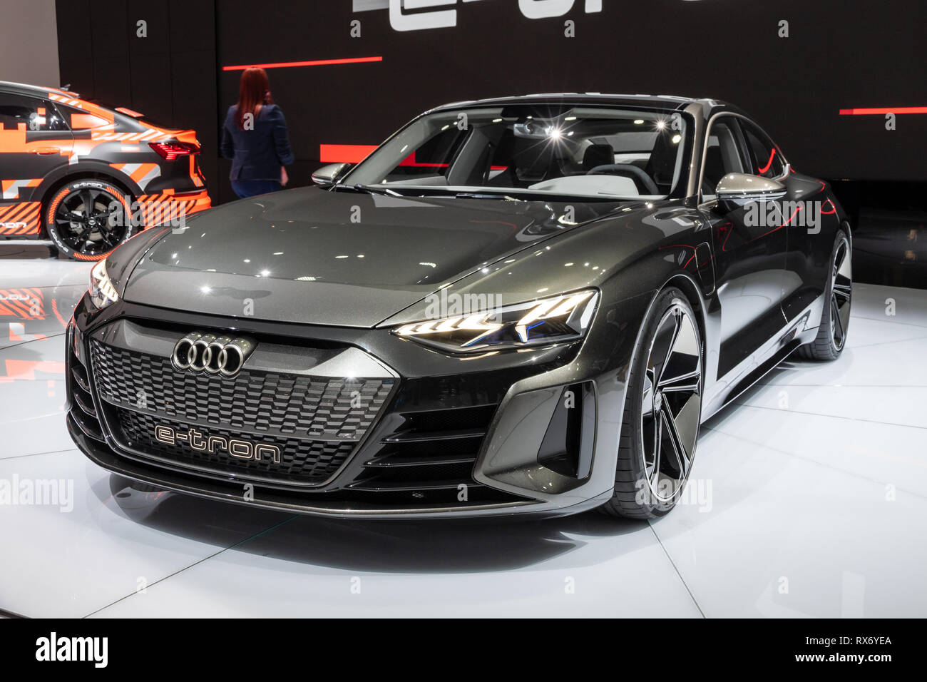 Geneva Switzerland March 6 2019 Audi E Tron Gt Concept Car Showcased At The 89th Geneva International Motor Show Stock Photo Alamy