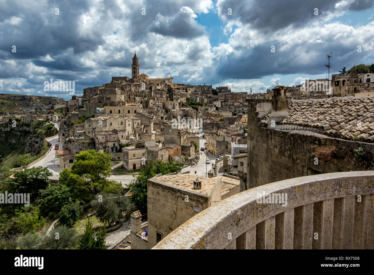 Matera Italy August 27 2018 Summer Day Scenery Street
