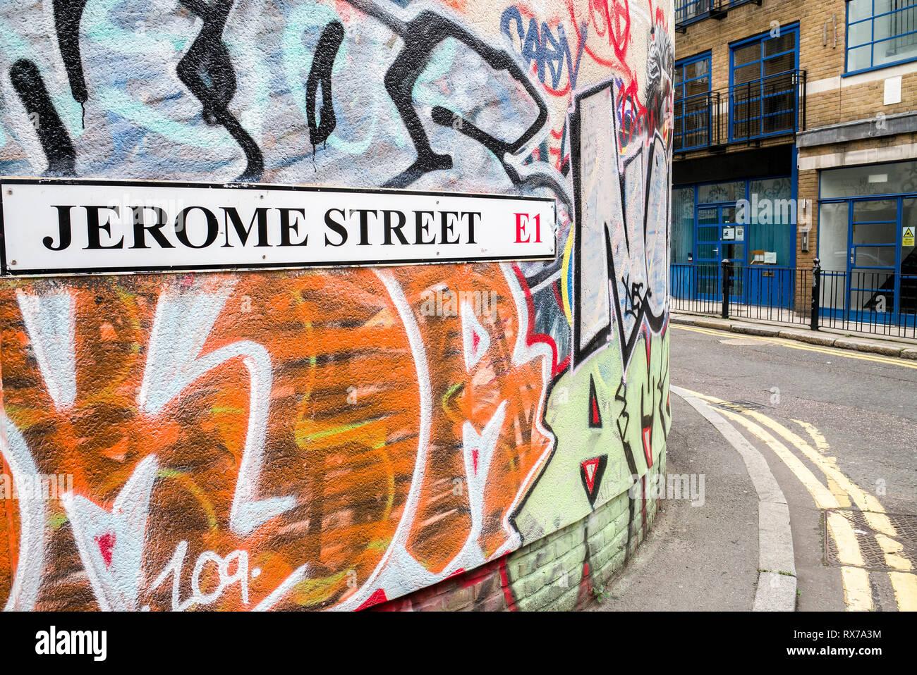 Jerome street E1 Spitalfields London Stock Photo