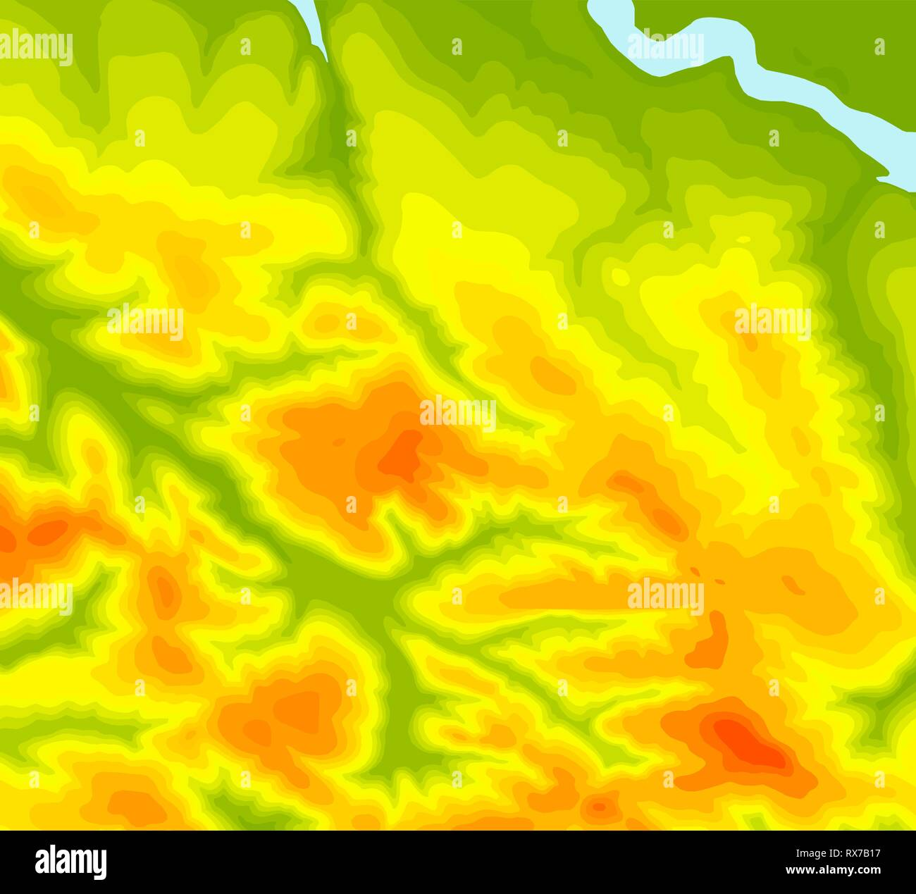 Background of the topographic map. Topographic map lines, contour background. Geographic abstract grid. EPS 10 vector illustration - Stock Image