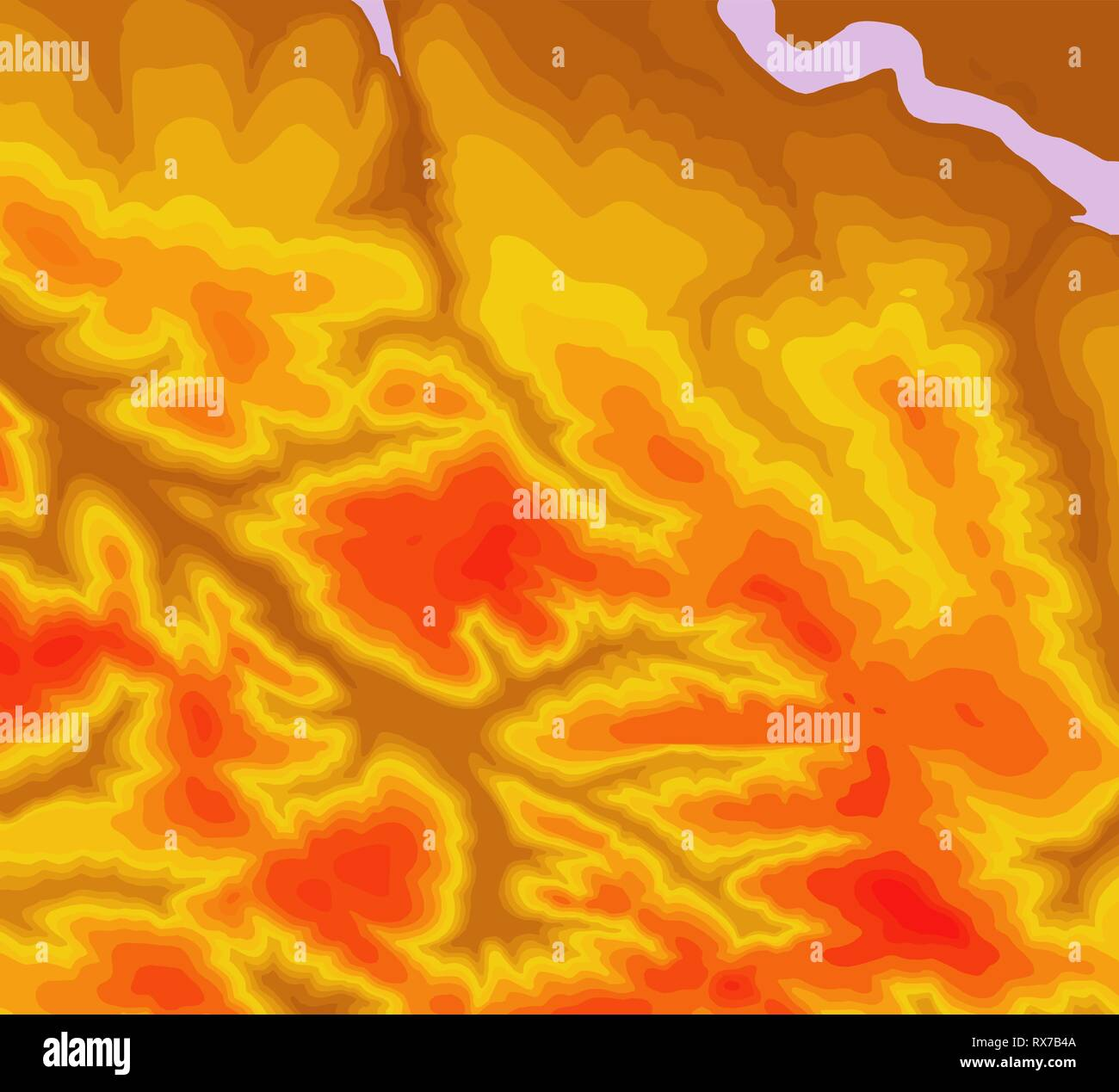 Topographic map contour background. Topo map with elevation. Contour map vector. Geographic World Topography map grid abstract vector illustration - Stock Image