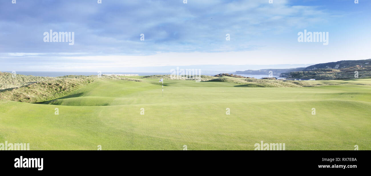 18th Feb 2015 Royal Portrush Golf Club , Portrush ,Co. Antrim N.Ireland. Taken on the Royal Portrush Golf Club Course in 2015. This course (with some  - Stock Image