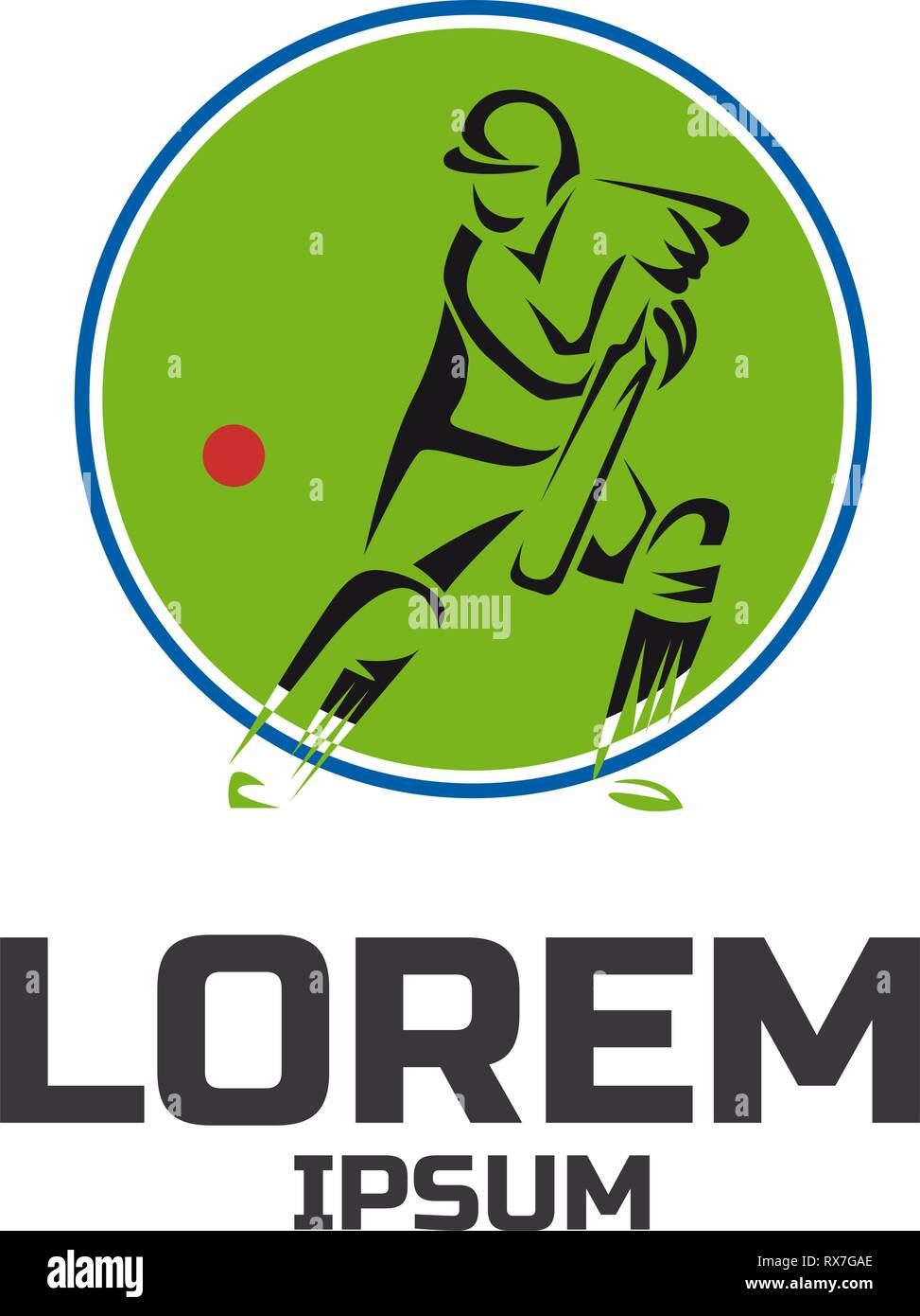 Cricket Sport Vector Logo Design Template Stock Vector Image Art Alamy