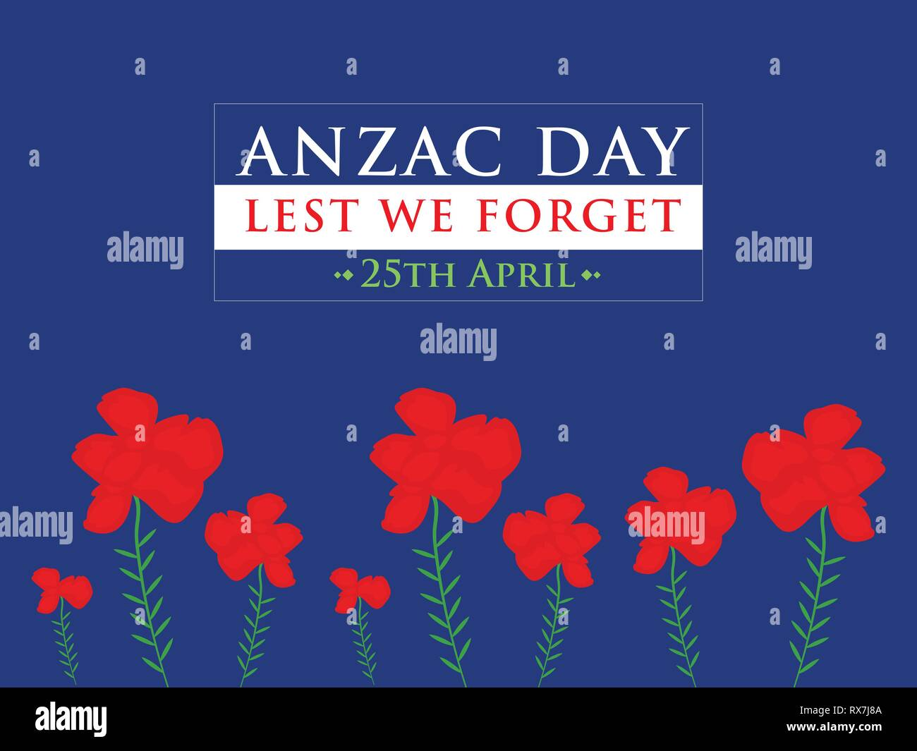 Anzac Day Australia - Stock Vector