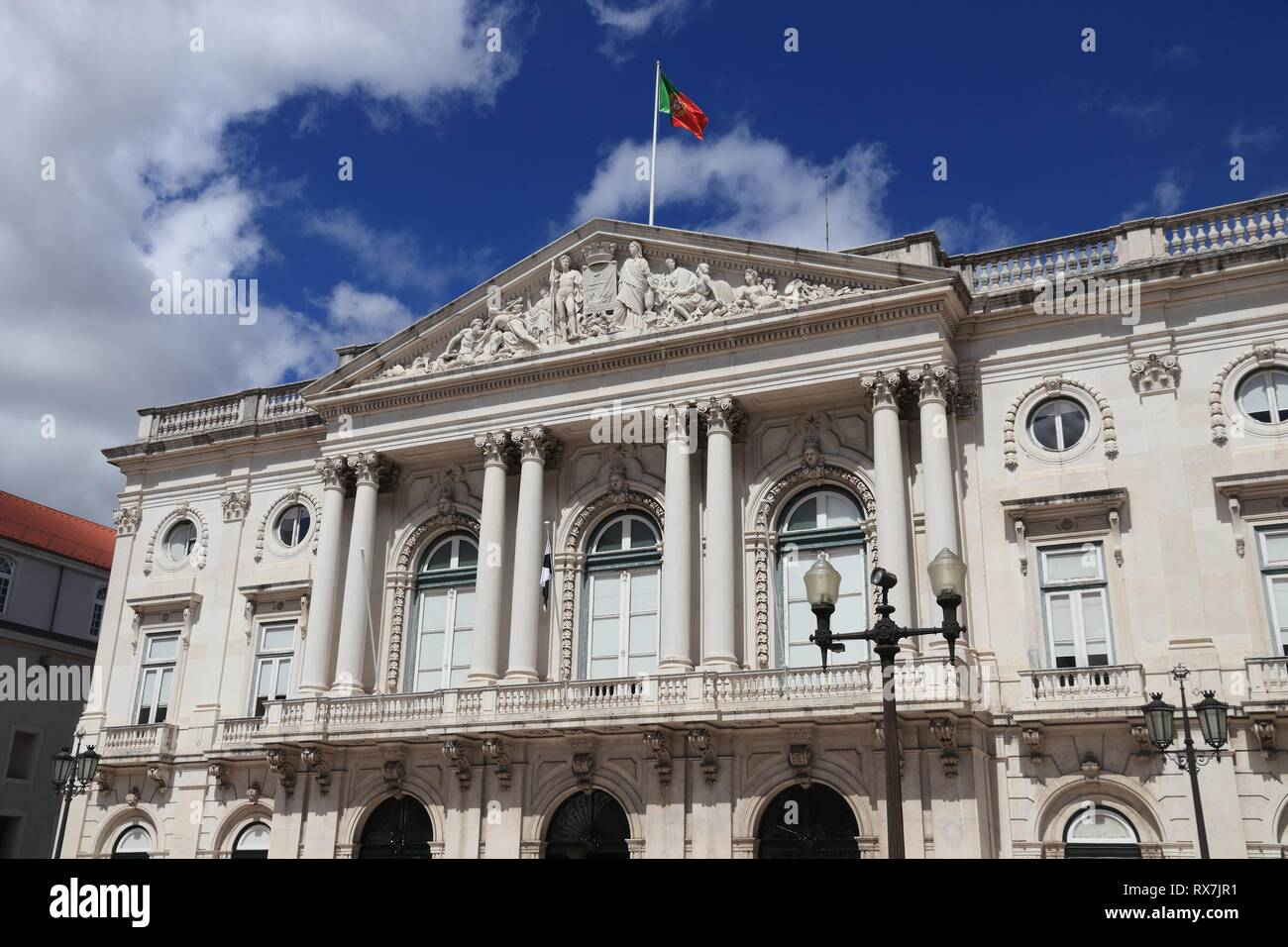 Lisbon City In Portugal City Hall Local Government Stock Photo Alamy