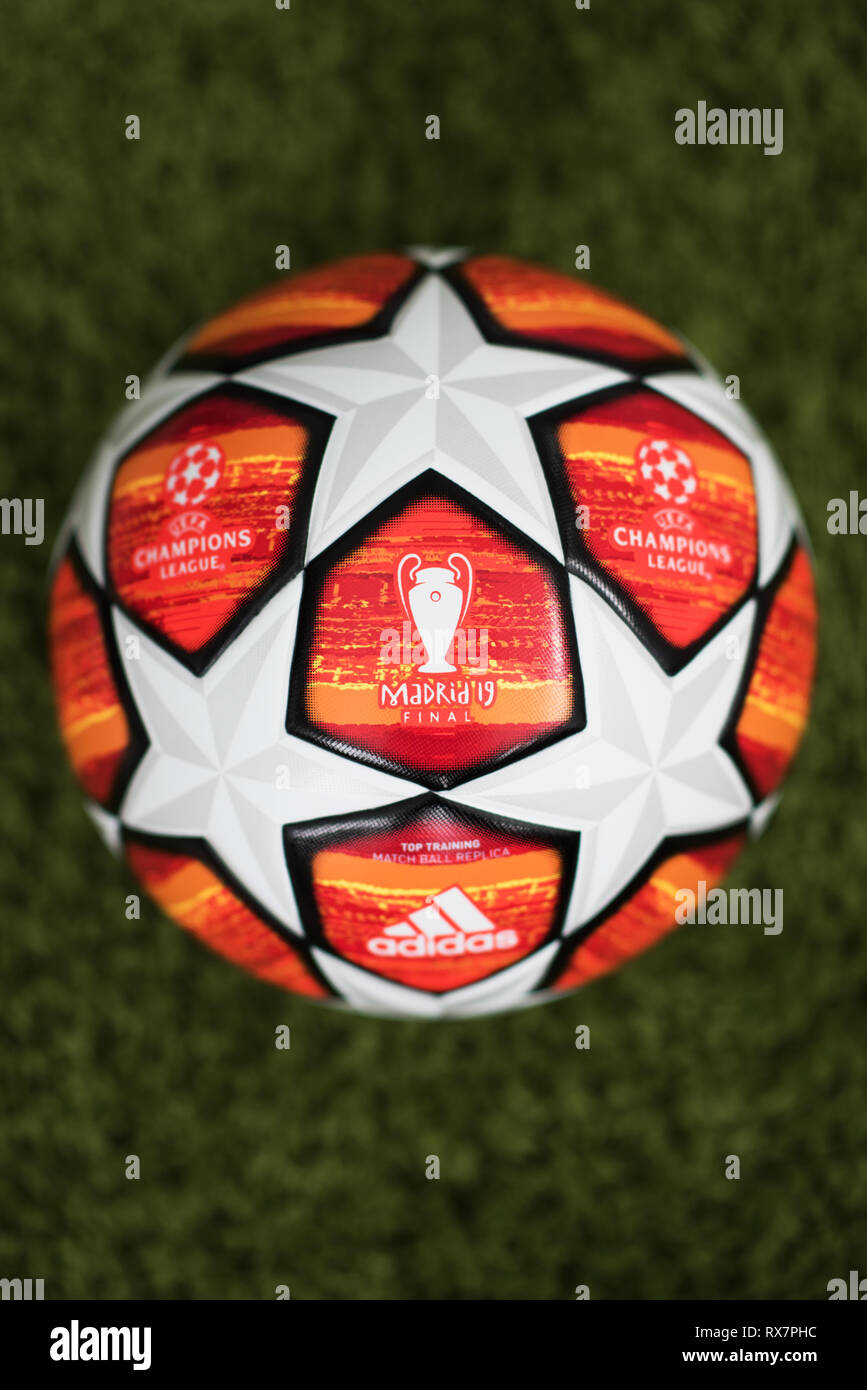 Close Up Of Adidas Uefa Champions League Final Football