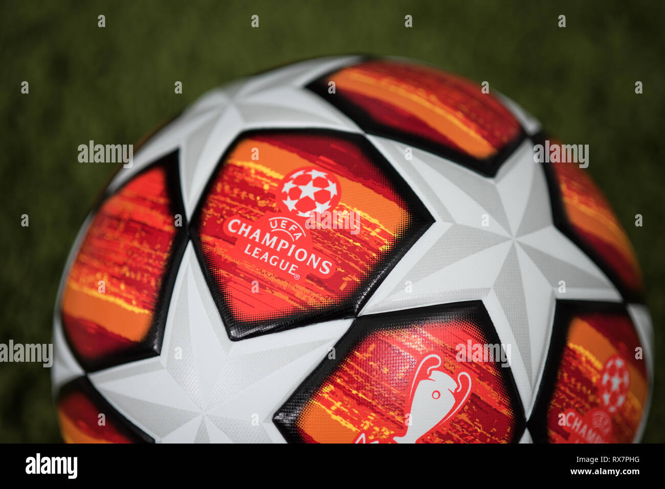 60b09861d Close up of Adidas UEFA Champions League Final Football. Madrid 2019. -  Stock Image