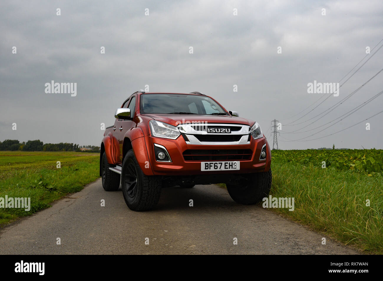 https www alamy com isuzu d max arctic trucks at35 parked on a country lane image239889405 html