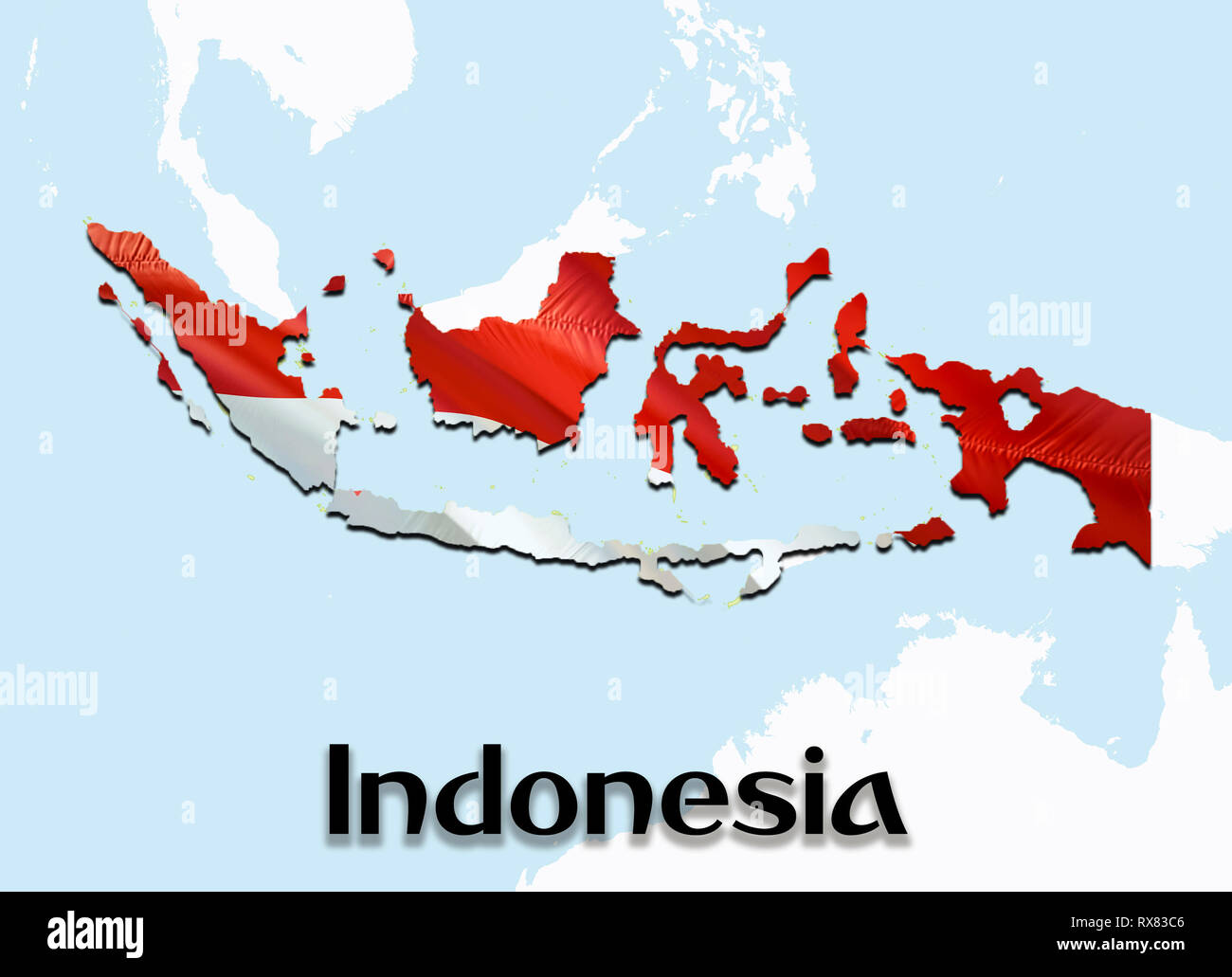indonesia map high resolution stock photography and images alamy https www alamy com flag map of indonesia 3d rendering indonesia map and flag on asia map the national symbol of indonesia jakarta flag map background image download h image239894150 html