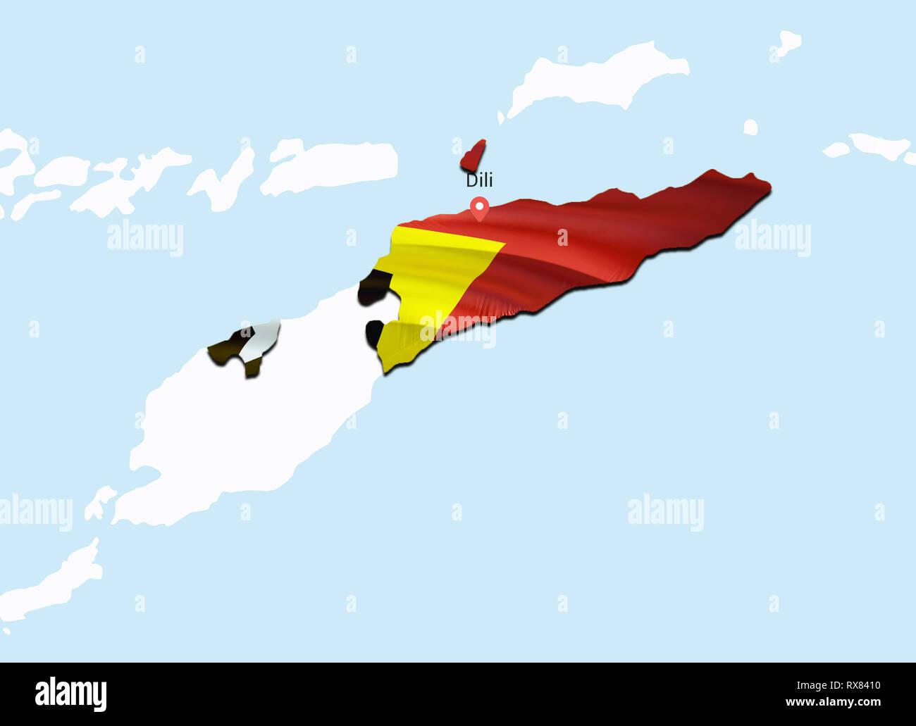 Flag Map of East Timor. 3D rendering East Timor map and flag ... East Timor Map on christmas island, west timor, malaysia map, bahrain map, banda sea map, southeast asia, portuguese timor, sudan map, papua new guinea map, laos map, southeast asia map, yemen arab republic, solomon islands map, tonga map, brazil map, taur matan ruak, ecuador map, flag of east timor, borneo map, philippines map, indonesia map, vietnam map, maldives map, eritrea map, east asia map, saint vincent and the grenadines, myanmar map, brunei map, portuguese language, saint kitts and nevis,
