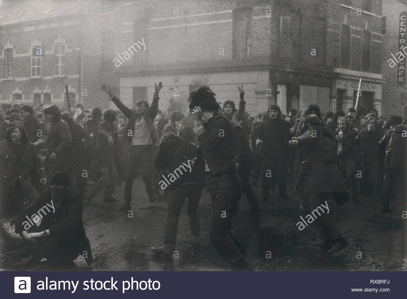 Bloody Sunday, one minute before first British paratroop regiment fires, killing thirteen civilians, Londonderry. Gilles Peress; French, born 1946. Date: 1972. Dimensions: 76.3 × 101.4 cm. Gelatin silver print. Origin: France. Museum: The Chicago Art Institute. - Stock Image