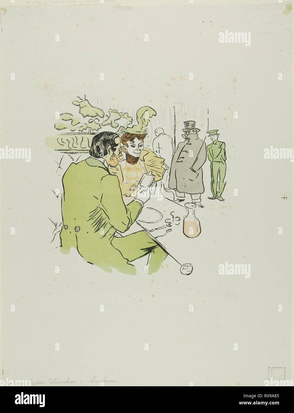 Snobbery. after Henri de Toulouse-Lautrec; French, 1864-1901. Date: 1897. Dimensions: 201 × 201 mm (image); 420 × 321 mm (sheet). Color lithographic reproduction of a photorelief print on grayish wove chine. Origin: France. Museum: The Chicago Art Institute. - Stock Image