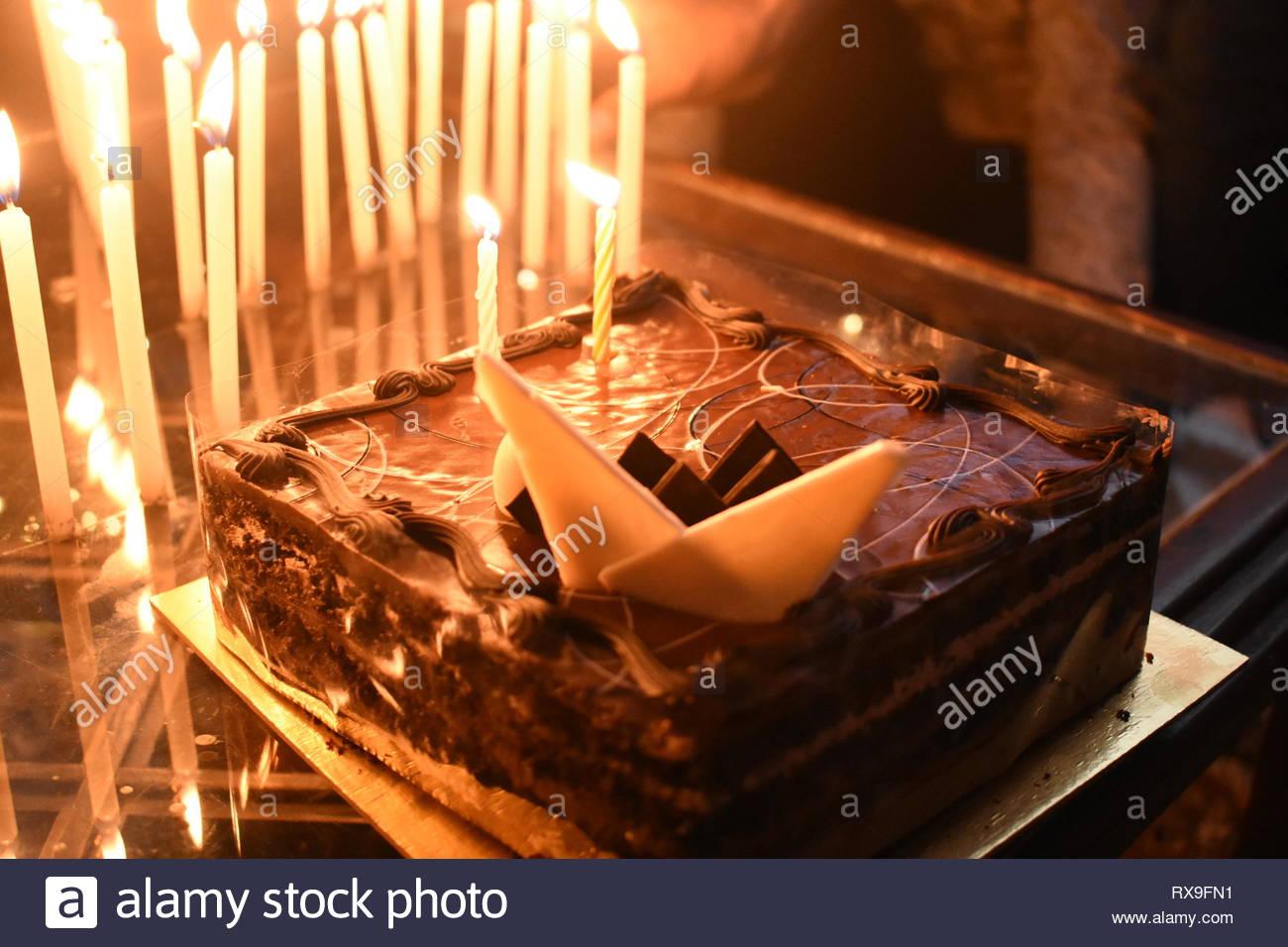 Terrific Used Birthday Cake Candles Stock Photos Used Birthday Cake Funny Birthday Cards Online Fluifree Goldxyz