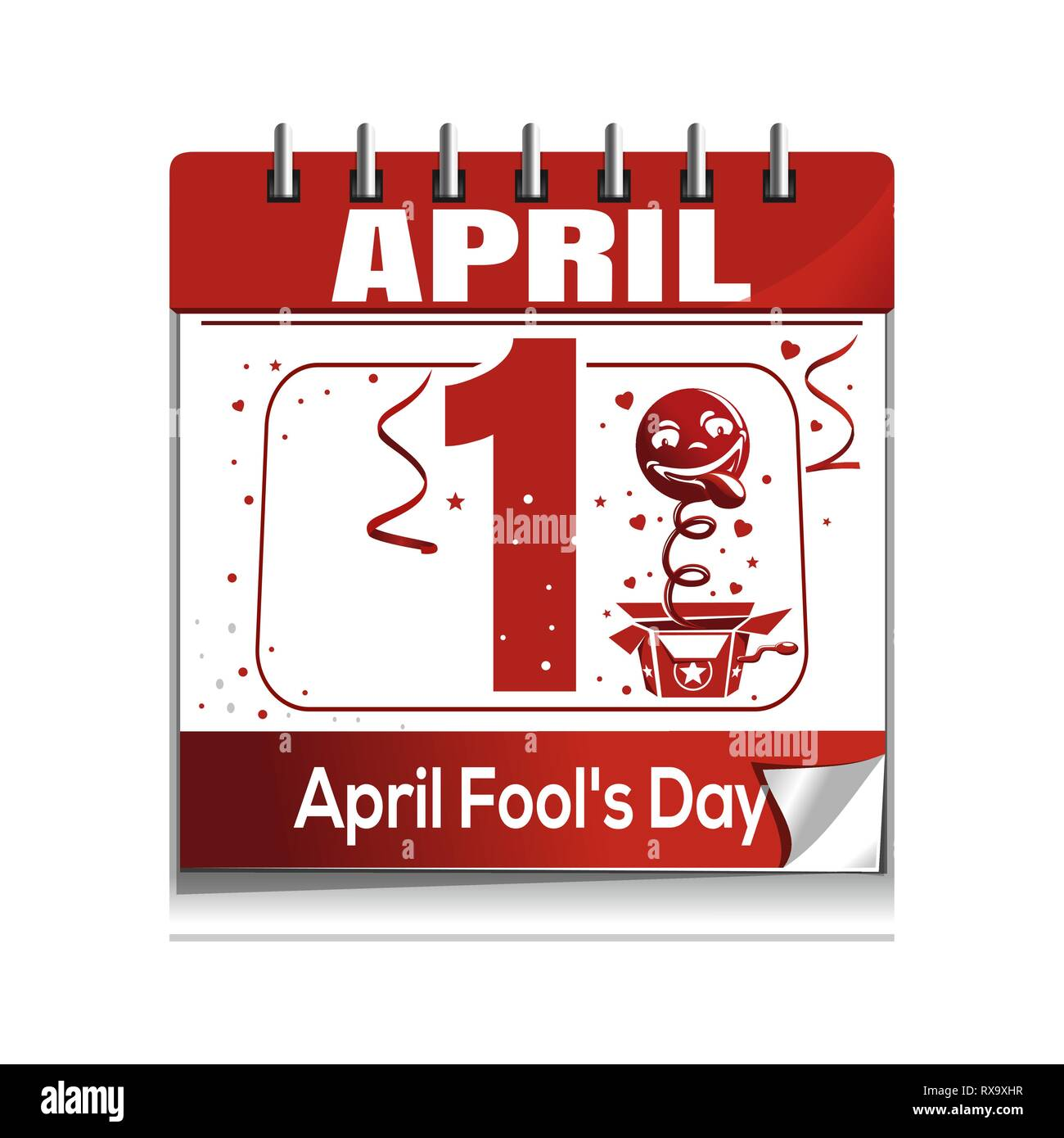 April Fools Day. April 1. Daily calendar icon Stock Vector Image & Art -  Alamy