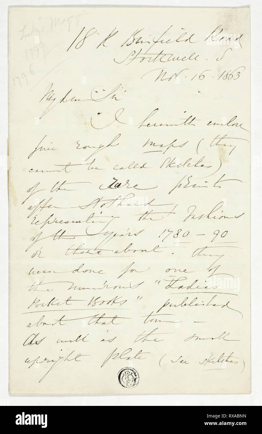 Letter from William Edward Frost  William Edward Frost