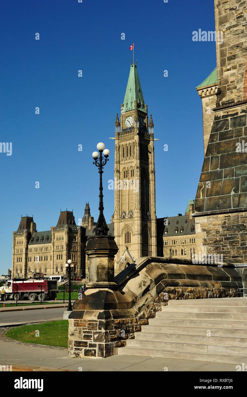 Peace Tower, Parliament Buidings, Ottawa, Ontario, Canada - Stock Image