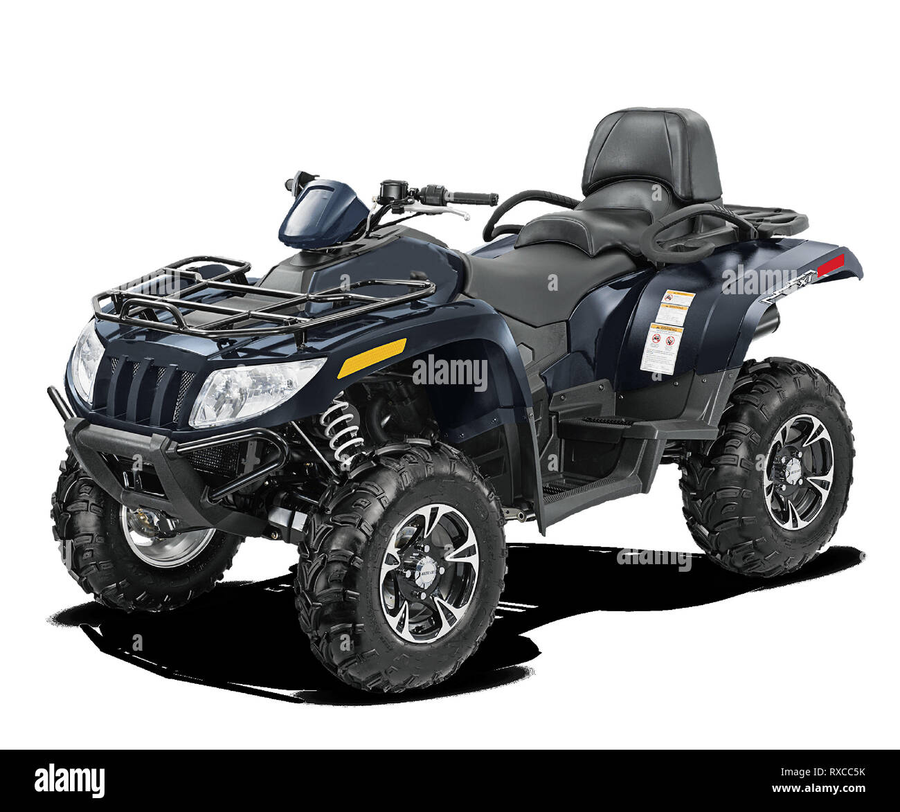 for adventure new quad bike., isolated - Stock Image