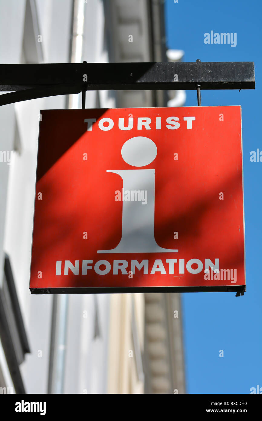 Tourist information in a big city - Stock Image