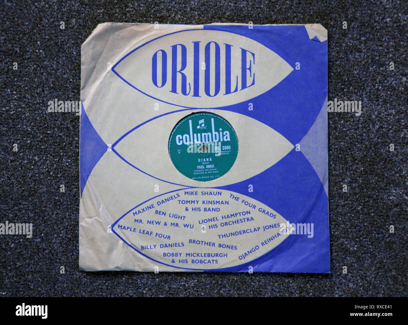 An old 78 rpm gramophone record. - Stock Image
