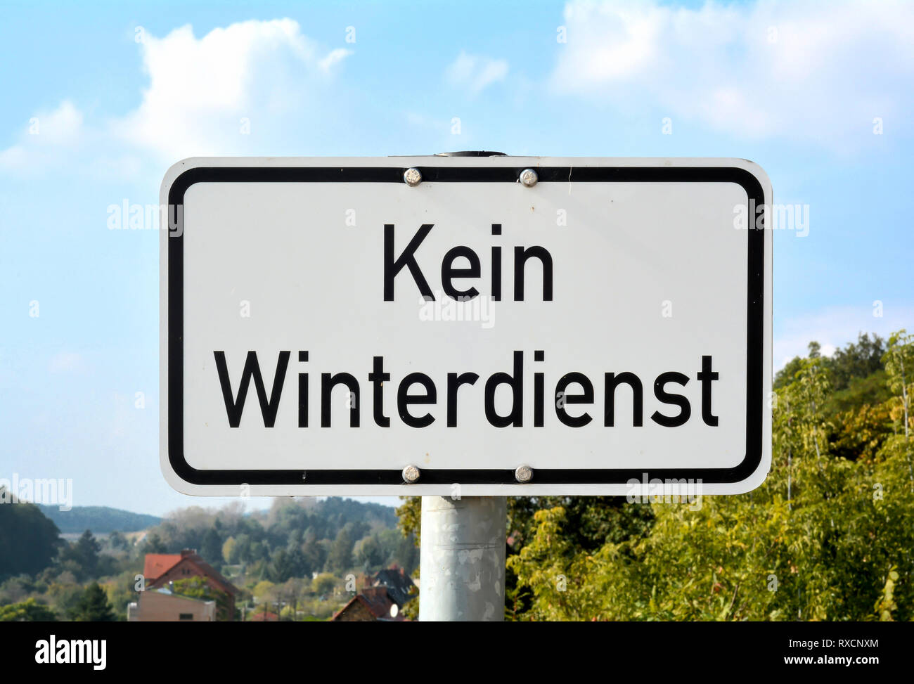 no winter service - Stock Image