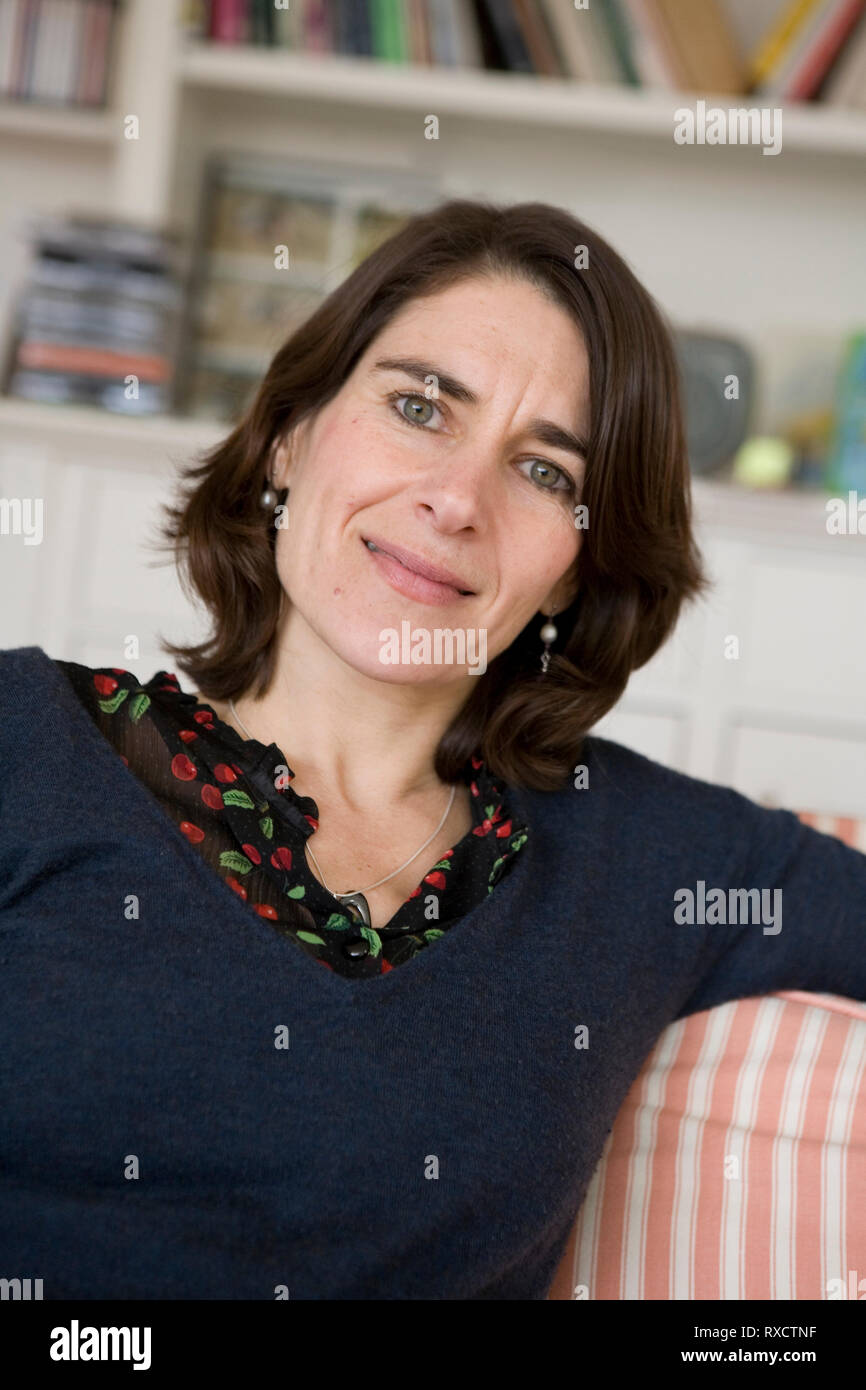 Esther Freud, daughter of Lucian Freud, at home in Highgate, London, 2009, for French publisher Albin Michel - Stock Image