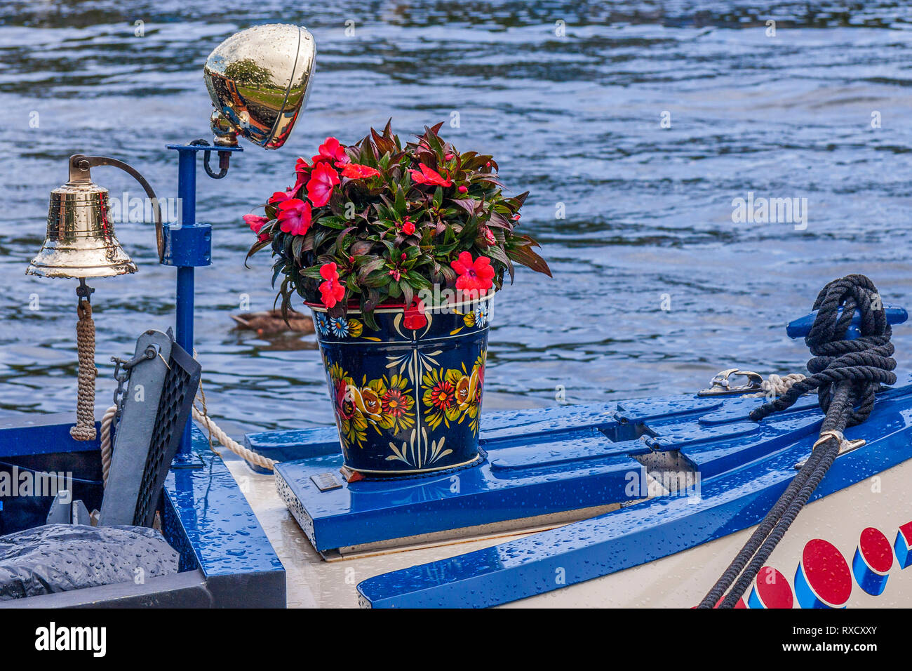 Bargeware On A Boat,  Henley On Thames, Oxfordshire, UK Stock Photo