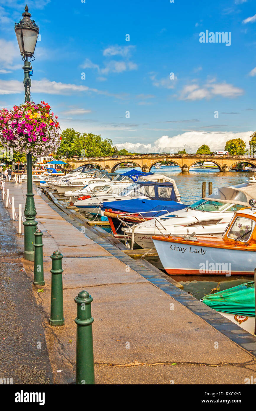 Boats On The River,  Henley On Thames, Oxfordshire, UK Stock Photo