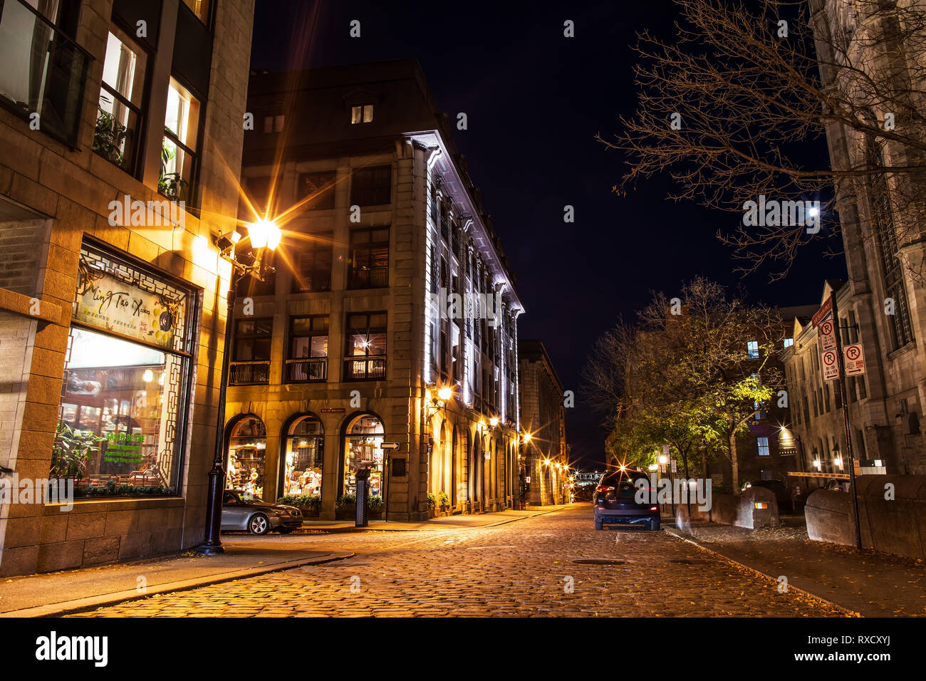 Streets and historical buildings in the historic site of Old Port ...