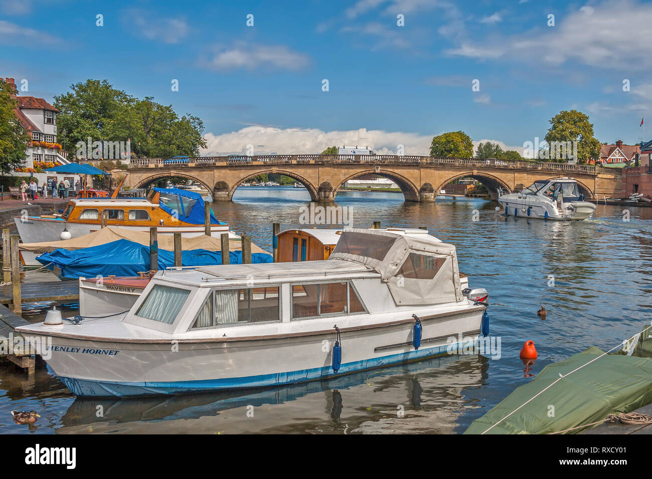 Bridge Across The River,  Henley On Thames, Oxfordshire, UK Stock Photo