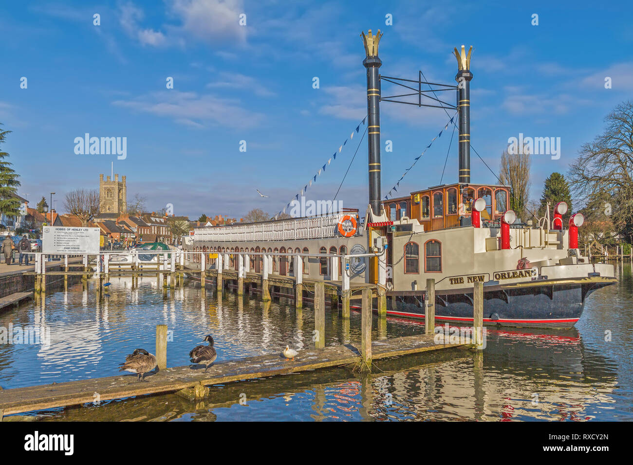 Paddle Steamer New Orleans Henley On Thames UK Stock Photo