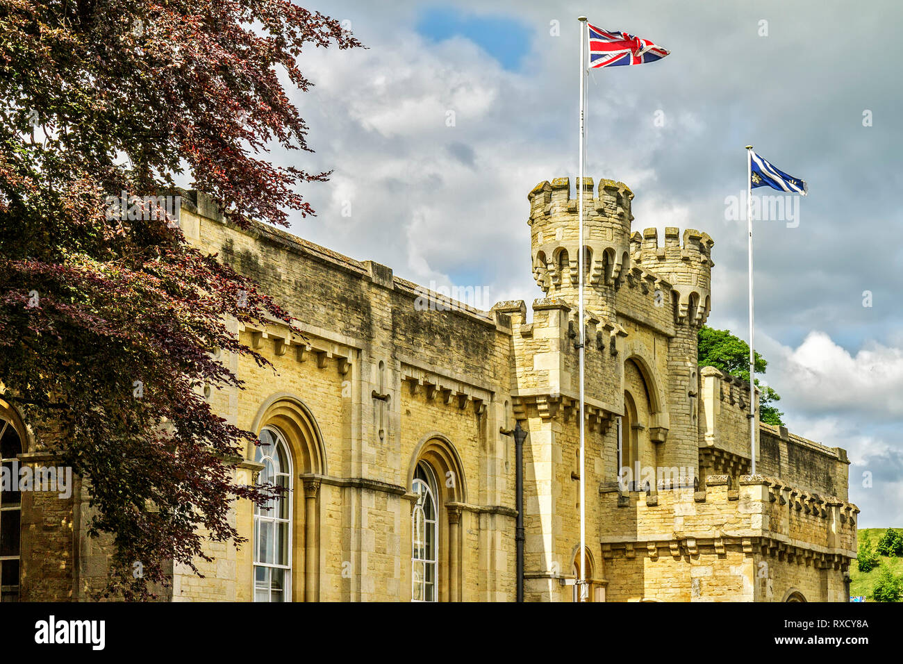 UK Oxford Old County Hall Stock Photo