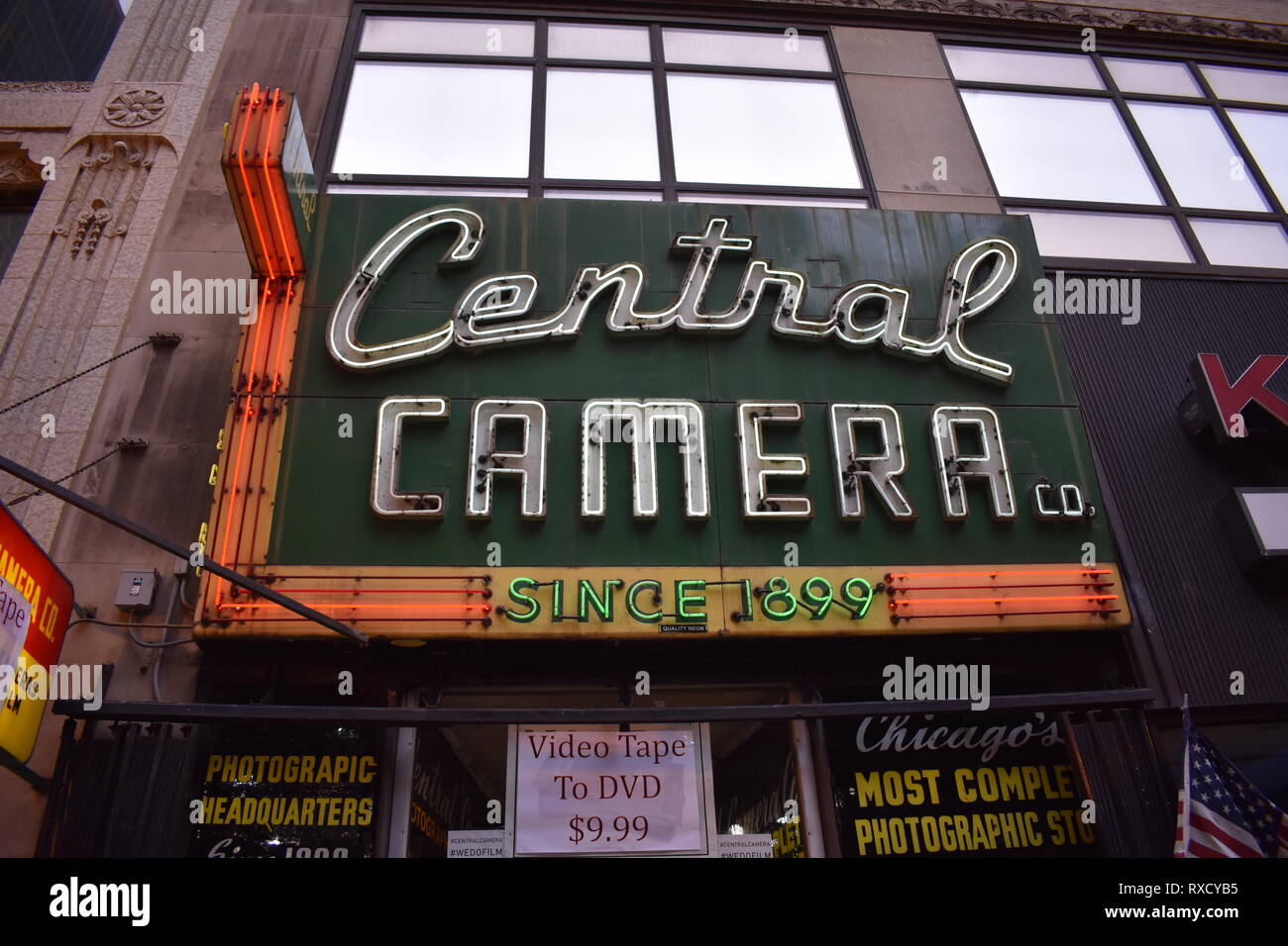 Central Camera store in Chicago Illinois - Stock Image