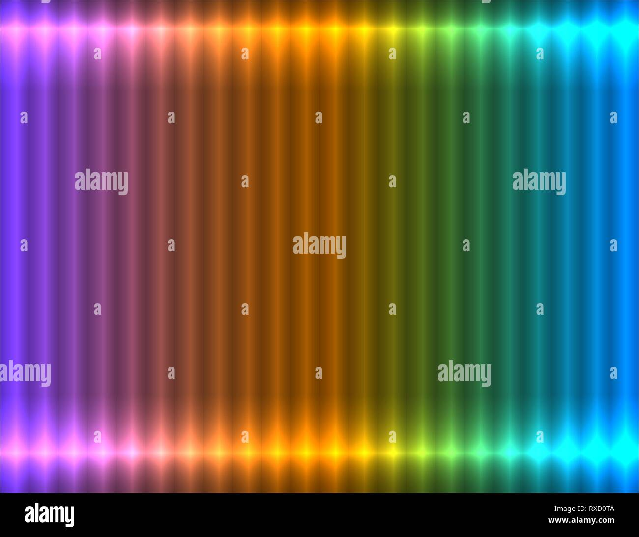 Violet, orange and blue pastel gradient linear background, neon effect - Stock Image