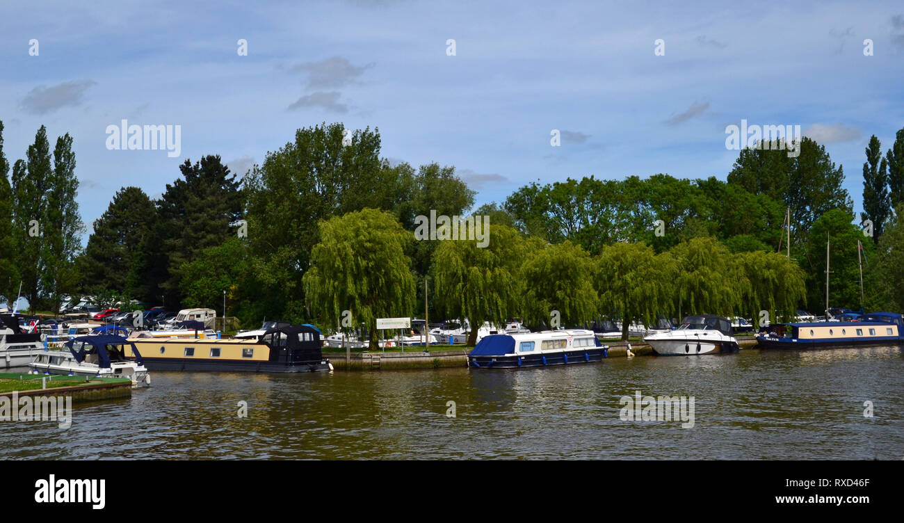 The waterside village of Burgh St Peter on the Suffolk Broads, Suffolk, UK - Stock Image