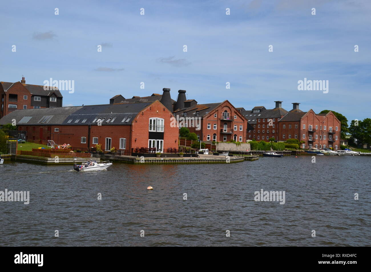 The Old Maltings on Oulton Broad, Suffolk, UK - Stock Image
