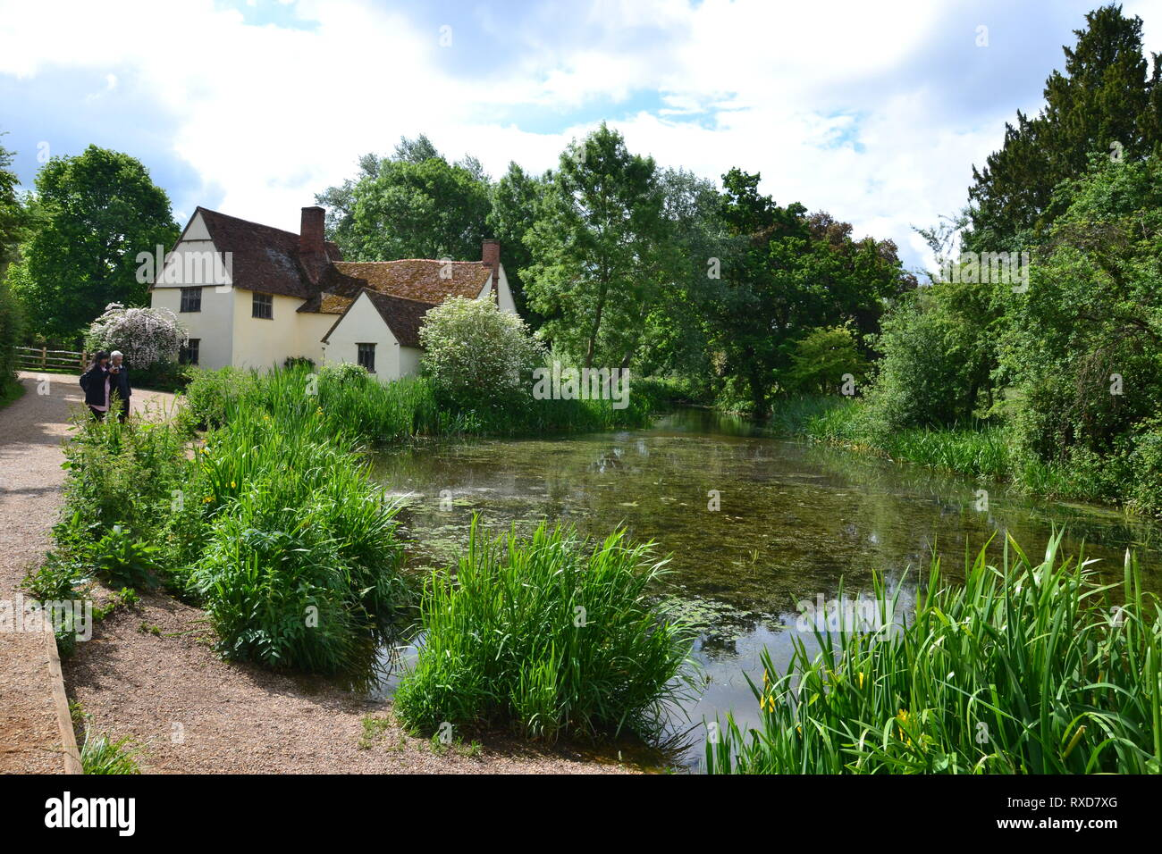 Willy Lott's House at Flatford, Suffolk, UK - Stock Image