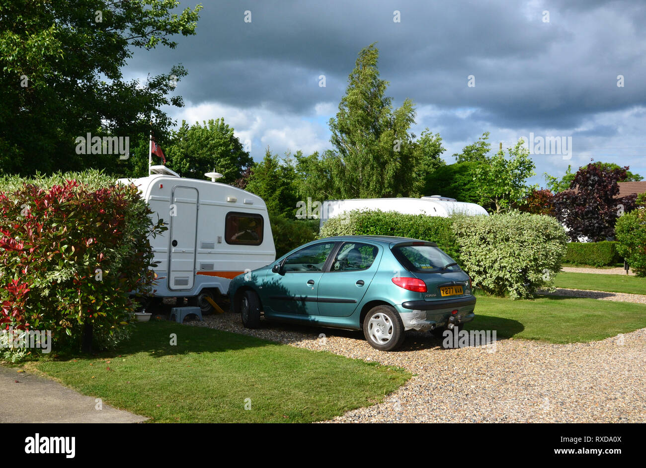 Polstead Camping and Caravanning Club Site, Polstead, Suffolk, UK - Stock Image