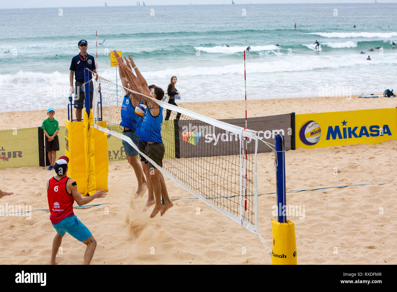 Sydney Australia 9th Mar 2019 Quarter Finals Day At Volleyfest 2019 A Fivb Beach Volleyball World Tour Tournament Being Held For The 5th Time At Manly Beach In Sydney Australia Saturday March 9th